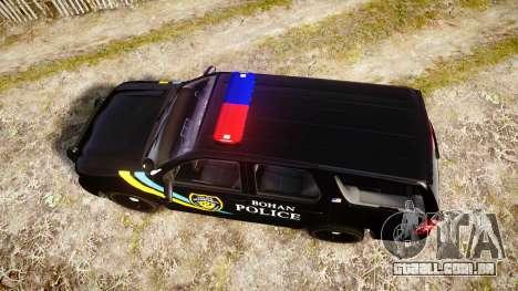 Chevrolet Tahoe 2010 Sheriff Bohan [ELS] para GTA 4 vista direita
