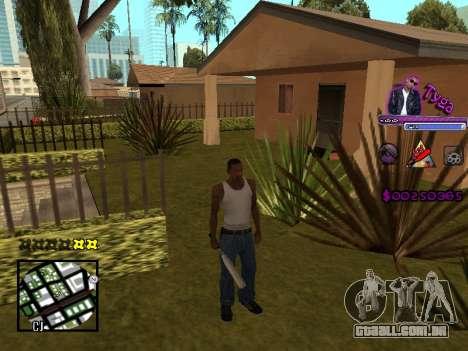 C-HUD by Tyga para GTA San Andreas