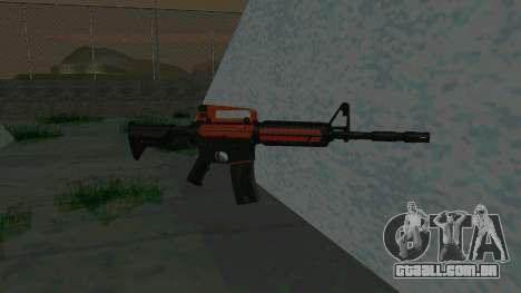 Orange M4A1 para GTA San Andreas segunda tela