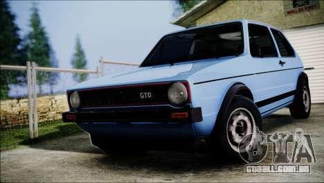 Volkswagen Golf Mk1 GTD para GTA San Andreas vista traseira