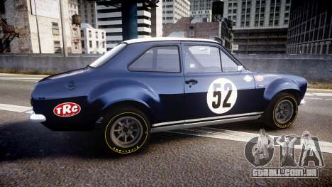 Ford Escort RS1600 PJ52 para GTA 4 esquerda vista