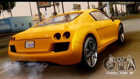GTA 5 Obey 9F Coupe para GTA San Andreas esquerda vista