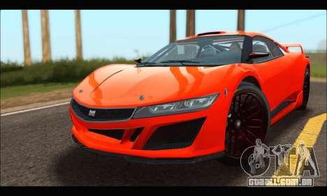 Dinka Jester Racecar (GTA V) para GTA San Andreas esquerda vista