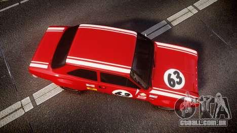 Ford Escort RS1600 PJ63 para GTA 4 vista direita