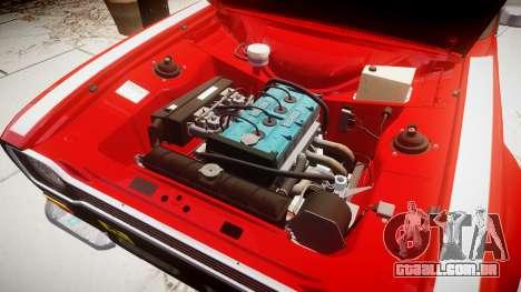 Ford Escort RS1600 PJ63 para GTA 4 vista de volta