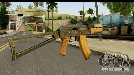 AKS-74 Madeira clara para GTA San Andreas segunda tela