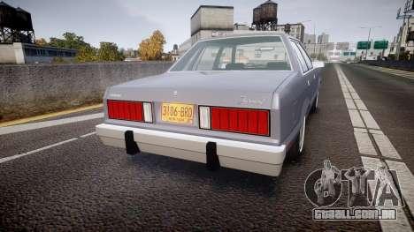 Ford Fairmont 1978 v1.1 para GTA 4 traseira esquerda vista