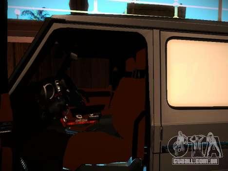 Mercedes-Benz G500 Bluetec 2014 para vista lateral GTA San Andreas