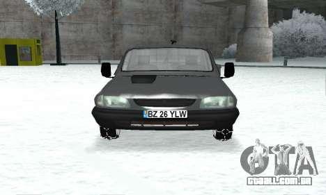 Dacia 1305 Papuc Pick-Up Drop Side 1.9D para GTA San Andreas vista traseira