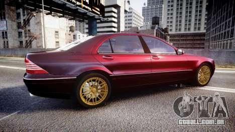 Mercedes-Benz S600 W220 para GTA 4 esquerda vista
