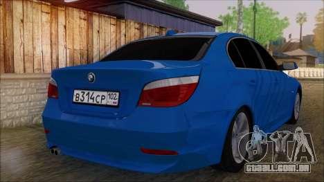 BMW 520i E60 para GTA San Andreas esquerda vista