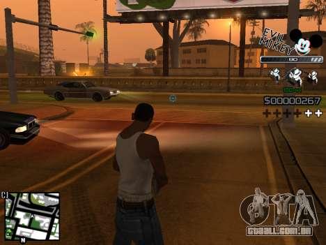 C-HUD Evil Mickey para GTA San Andreas terceira tela