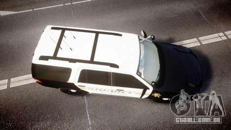 Ford Expedition 2010 Sheriff [ELS] para GTA 4 vista direita