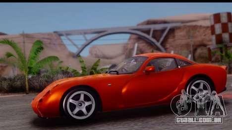 TVR Tuscan S 2001 para GTA San Andreas traseira esquerda vista