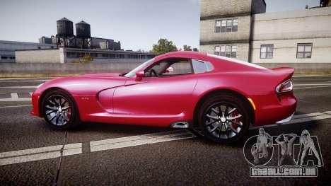 Dodge Viper SRT 2012 para GTA 4 esquerda vista