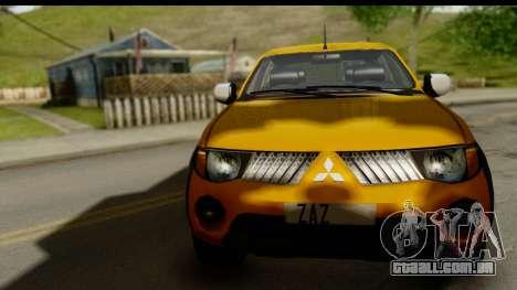 Mitsubishi L200 Triton v1.0 para GTA San Andreas traseira esquerda vista
