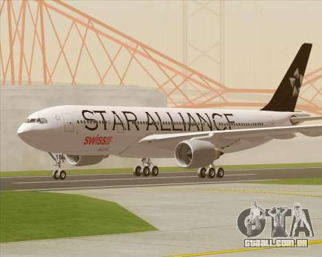 Airbus A330-200 SWISS (Star Alliance Livery) para GTA San Andreas vista interior