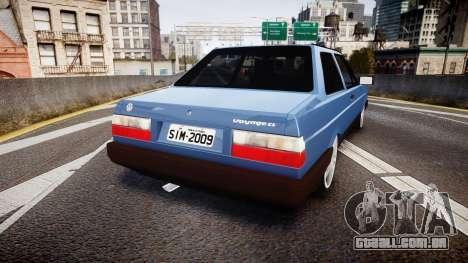 Volkswagen Voyage 1990 para GTA 4 traseira esquerda vista