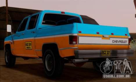 Chevrolet Custom Deluxe para GTA San Andreas esquerda vista
