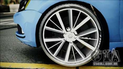 Volkswagen Jetta 2015 para GTA San Andreas traseira esquerda vista