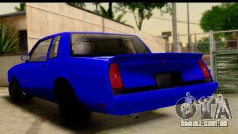Chevy Monte Carlo para GTA San Andreas esquerda vista