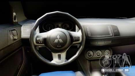 Mitsubishi Lancer X RE-Racing Edition para GTA San Andreas traseira esquerda vista