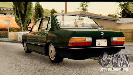 BMW M5 E28 Edit para GTA San Andreas esquerda vista