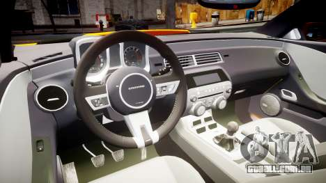 Chevrolet Camaro SS para GTA 4 vista de volta