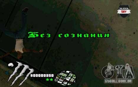 C-HUD Monster Energy para GTA San Andreas por diante tela
