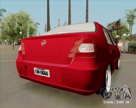 Fiat Siena 2008 para GTA San Andreas esquerda vista