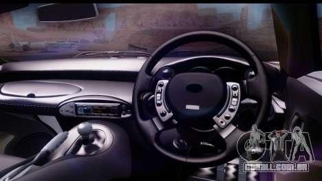 TVR Tuscan S 2001 para GTA San Andreas vista traseira