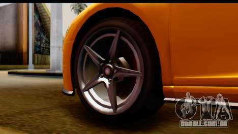 GTA 5 Obey 9F Coupe para GTA San Andreas traseira esquerda vista