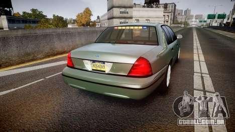 Ford Crown Victoria Police Interceptor [ELS] para GTA 4 traseira esquerda vista