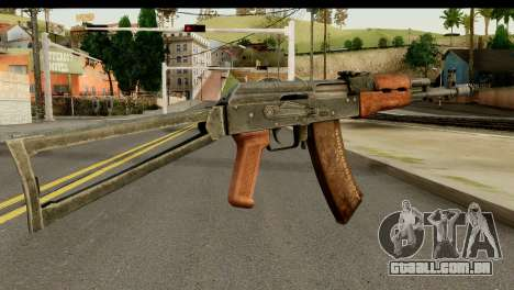 AKS-74 Madeira Escura para GTA San Andreas segunda tela