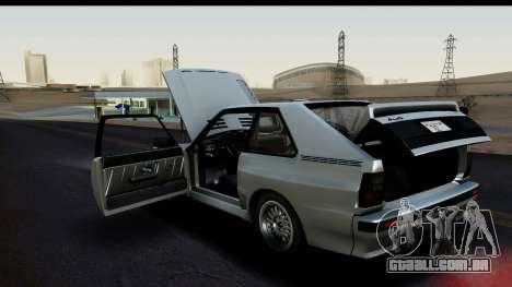 Audi Sport Quattro B2 (Typ 85Q) 1983 [HQLM] para GTA San Andreas vista traseira