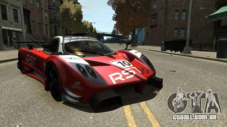 Pagani Zonda R para GTA 4 vista de volta