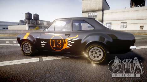 Ford Escort RS1600 PJ13 para GTA 4 esquerda vista