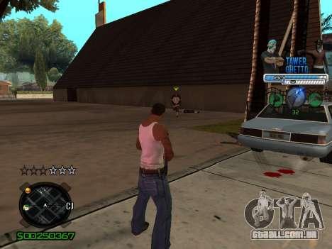 C-HUD для Gueto para GTA San Andreas segunda tela