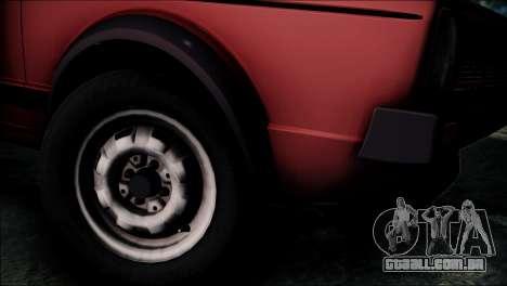 Volkswagen Golf Mk1 GTD para GTA San Andreas traseira esquerda vista