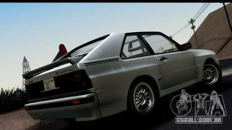Audi Sport Quattro B2 (Typ 85Q) 1983 [HQLM] para GTA San Andreas esquerda vista