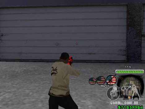 C-HUD for Ghetto para GTA San Andreas terceira tela