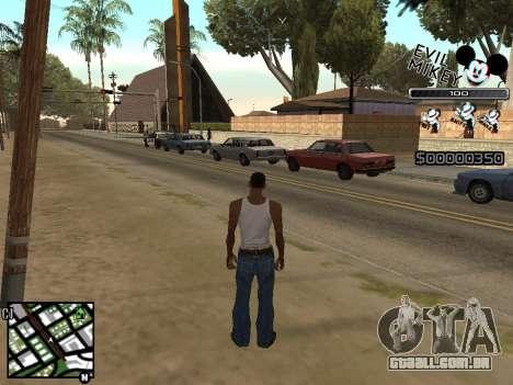 C-HUD Evil Mickey para GTA San Andreas por diante tela