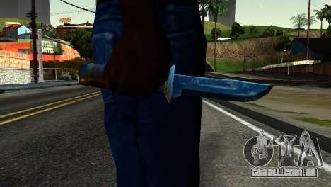 Knife from Kuma War para GTA San Andreas terceira tela