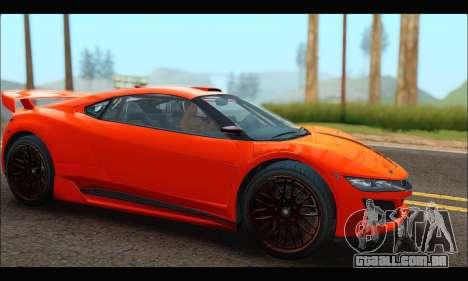 Dinka Jester Racecar (GTA V) para GTA San Andreas traseira esquerda vista