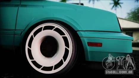 Volkswagen Golf Mk3 Hawaii Style para GTA San Andreas vista direita