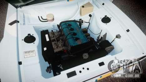 Ford Escort RS1600 PJ76 para GTA 4 vista de volta