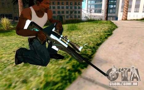 Blue Line Sniper para GTA San Andreas por diante tela