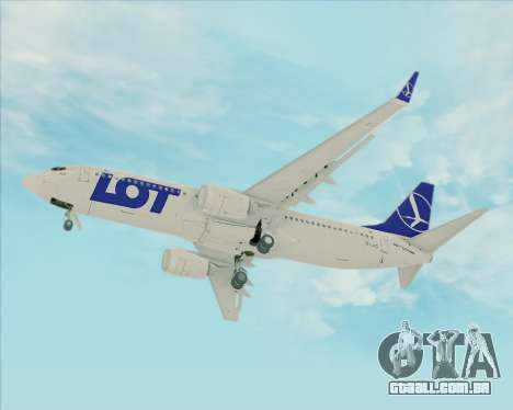 Boeing 737-800 LOT Polish Airlines para GTA San Andreas vista interior