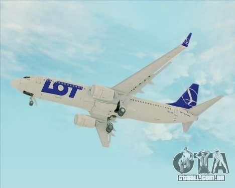 Boeing 737-800 LOT Polish Airlines para GTA San Andreas vista interior