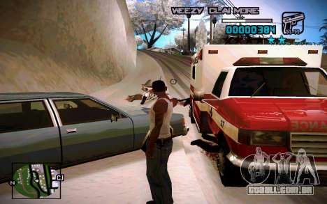 HUD by Weezy para GTA San Andreas segunda tela